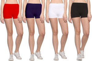 69Gal Solid Men & Women Red, Dark Blue, White, Black Compression Shorts