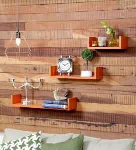 Onlineshoppee U-shaped Designer MDF Wall Shelf