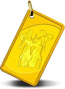 MMTC-PAMP India Pvt Ltd Rasi series – Gemini, 24K (999.9) purity, 2.58 gm Gold pendant 24 (9999) Yellow Gold Pendant