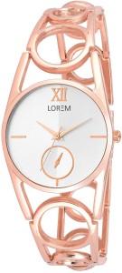 LOREM New LR213 Rose Gold Metal Chronograph Pattern Bracelet Girls Watch  - For Women
