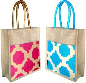 foonty /multipurpose handbags/pack of 2 jute Lunch Bag