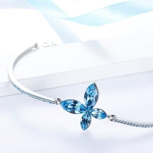 Divastri Copper Swarovski Crystal Rhodium Bracelet