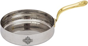 IndianArtVilla Stainless Steel Curved Serving Sauce Pan Width 5