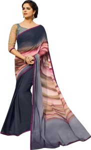 02c4452c21 Shaily Retails Self Design Fashion Georgette Saree Multicolor Best ...