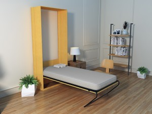 Camabeds Friss Vertical Wall Bed Engineered Wood Single Bed