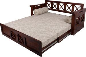 Home Edge Murphy Double Solid Wood Sofa Bedfinish Color Teak Mechanism Type Pull Out