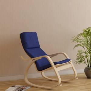 HomeTown Vita Blue Engineered Wood 1 Seater Rocking Chairs