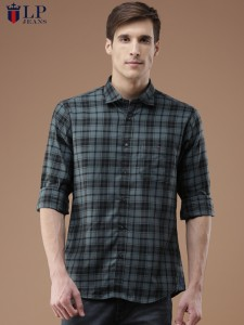 f4c5446c8e8a62 LP Jeans by Louis Philippe Men s Checkered Casual Shirt Best Price in India  | LP Jeans by Louis Philippe Men s Checkered Casual Shirt Compare Price  List ...