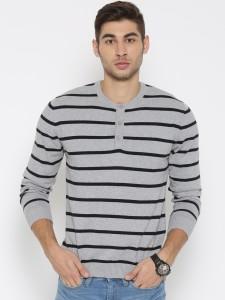 John Players Full Sleeve Solid Men Sweatshirt