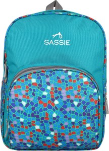 SASSIE Polyester green school bags (21 Litres) (SSN-1001) Waterproof Backpack