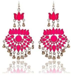 renaissance traders afgani pink Metal Jhumki Earring