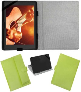 ACM Flip Cover for Micromax Canvas P681 Tab Green, Artificial Leather