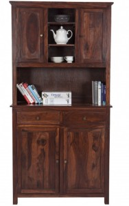 NIDOO Azmin Hutch Buffet (AM_KC_67) Solid Wood Crockery Cabinet