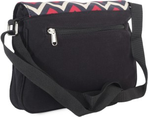 Fastrack Women Black Pu Sling Bag