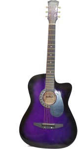 Mei Ge DD 380C Purple Linden Wood Acoustic Guitar Purple