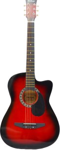 Mei Ge DD 380C Red Linden Wood Acoustic Guitar Red