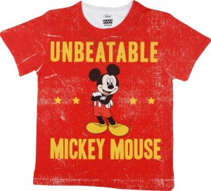 01c44febe9 Mickey Mouse Family Boys Graphic Print Polyester T Shirt Red Pack of ...