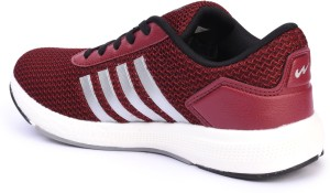 2fdda228d415 Campus BATTLE X 11 Running Shoes Maroon Silver Best Price in India ...