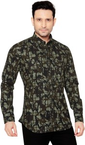 GlobalRang Men's Military Camouflage Casual Multicolor Shirt