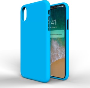 promo code 20ea3 735a6 MTT Back Cover for Apple iPhone XBlue, Silicon