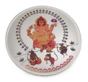Taraash Multicolor Lord Ganesha S 999 50 g Silver Coin
