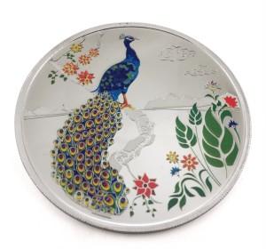 Taraash Premium Colorful Peacock S 999 50 g Silver Coin