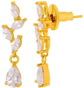 4454f9a4eba87 Voylla Stunning Zircon Encrusted Opulent Necklace Set Cubic Zirconia Yellow  Gold Plated Brass Necklace Set