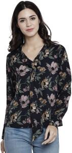 Athena Casual Full Sleeve Printed Women's Dark Blue, Multicolor Top