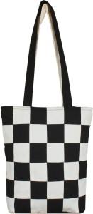 Ryan tote bag checked black & white Multipurpose Bag