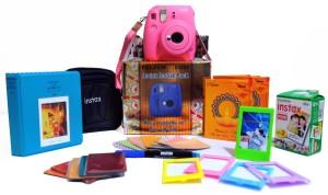 Fujifilm Instax Mini 9 Flamingo Pink Festive Pack Instant Camera