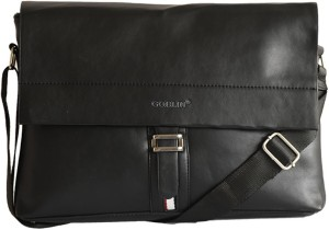 66f2007490b Goblin Men   Women Black PU Messenger Bag