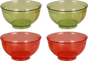 Tupperware pack of 4  Each 250 Ml  Polypropylene Bowl Set Green, Red