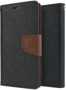reputable site 97e39 49a13 Spasht Flip Cover for Yu Yunique 2 PlusBlack, Brown, Artificial Leather