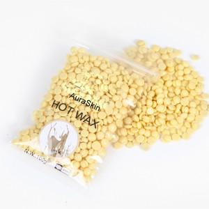 AuraSkin Depilatory strip less hair remover Hard Beads Brazilian Hot Film  Wax (milky) Wax100 g