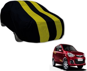 Auto Hub Car Cover For Maruti Suzuki Alto K10  Without Mirror Pockets  Black, Yellow