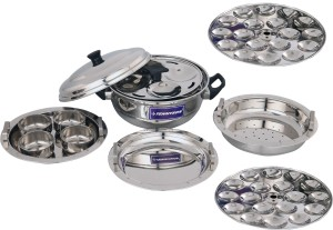 TENNYSON MULTIKADAI SMALL WITH MINI IDLI PLATE Stainless Steel Steamer