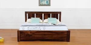 VINTEJ HOME Mid-Century Solid Wood King Bed