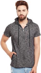 Fugazee Half Sleeve Self Design Men's Sweatshirt