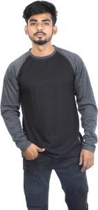 Roden Solid Men's Round Neck Black, Black T-Shirt