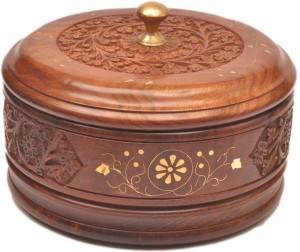 MartCrown Wooden Brass & Carving Casserole Casserole