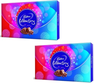 Cadbury Celebrations Rich Dry Fruit Chocolate Gift Pack 180.8 gm (Pack of 2) Bars