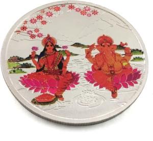 Taraash Premium Collection Of Maa Lakshmi & Lord Ganesha S 999 20 g Silver Coin