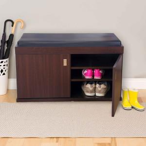 HomeTown Engineered Wood Shoe Rack