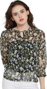 Miss Chase Casual 3/4th Sleeve Floral Print Women's Multicolor Top