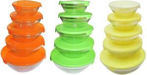 M Megalite Premium high quality decorative gifting and multipurpose MULTICOLOR Glass Bowl Set