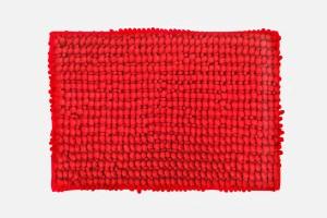 Skipper Furnishings Polyester Bathroom Mat Red, Medium