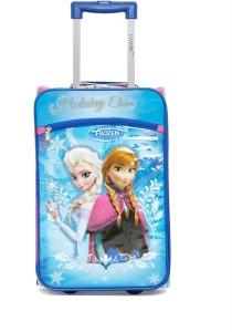 Gamme Disney Frozen Kids Soft Blue Trolley Bag Cabin Luggage - 17 inch