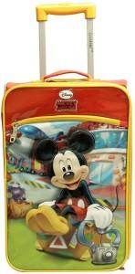 gamme Disney Mickey Kids Soft Trolley Bag Cabin Luggage - 17 inch