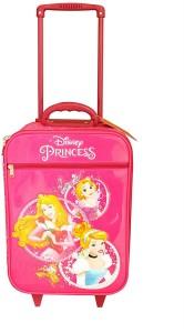 Gamme Disney Princess Kids Soft Pink Trolley Bag Cabin Luggage - 18 inch