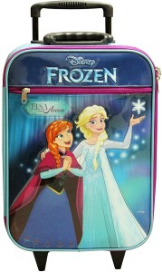 Gamme Disney Frozen Kids Soft Blue Trolley Bag Cabin Luggage - 18 inch
